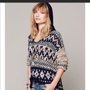 free people chunky knit hoodie